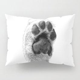 Black and White Dog Paw Pillow Sham