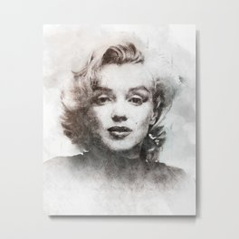 Marilyn portrait 04 Metal Print
