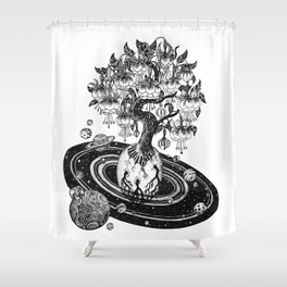 Space tree of Life Shower Curtain