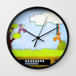 Unicorn Hunt Wall Clock