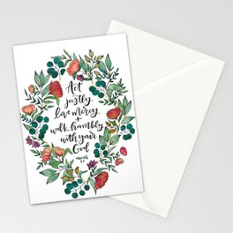Act Justly Stationery Cards