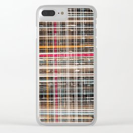 structure with red lines Clear iPhone Case