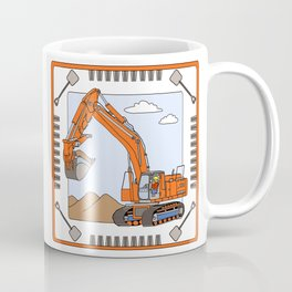 Track Hoe Block Coffee Mug