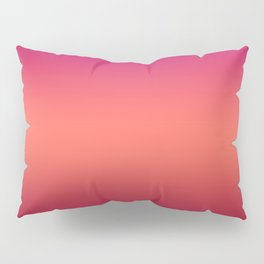 Living Coral Pink Peacock Jester Red Gradient Ombre Pattern Pillow Sham