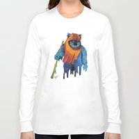 ewok Long Sleeve T-shirts featuring Trippy Ewok by Lyn Sweet
