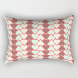 Creamy Hearts  Rectangular Pillow