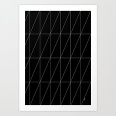 Black Triangles by Friztin Art Print
