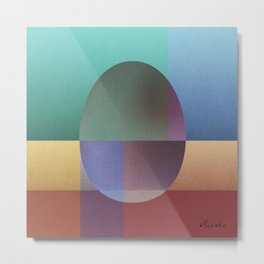 NO WAY OUT abstract art Metal Print