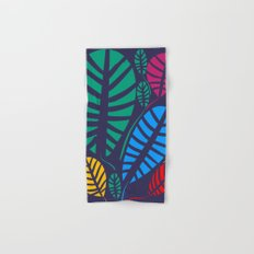 Jungle Night Pattern Floral Decoration Hand & Bath Towel