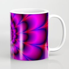 Spiral Rosette in Pink Blue and Red Mug