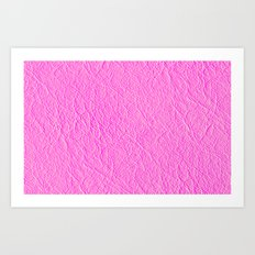 Leather Texture (Pink) Art Print