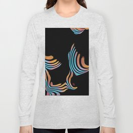 5126s-MAK Abstract Large Breasts Torso Composition Style Long Sleeve T-shirt