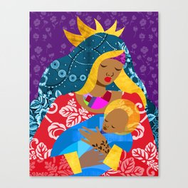 Virgin Mary and Child Canvas Print