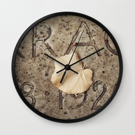 Letters and Leaf Wall Clock