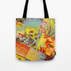 COLORFUL INDECISION 3 - Wild Vivid Rainbow Abstract Acrylic Painting Mixed Pattern Pretty Art Gift  Tote Bag