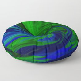 Blue and Green Wave Floor Pillow