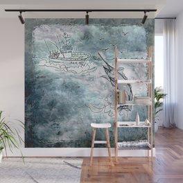 Fishing swordfish Wall Mural