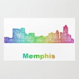 Rainbow Memphis skyline Rug