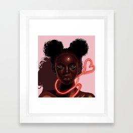 Melanin X Neon Framed Art Print