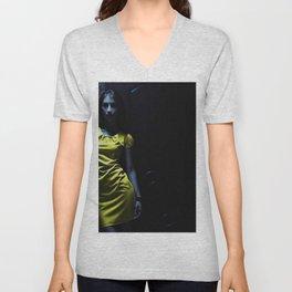 Girl in Yellow Unisex V-Neck
