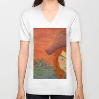 pirates V-neck T-shirts featuring Pirates  by CataBeja Umaña Azul