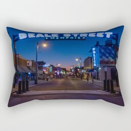 Walking in Memphis - Beale Street Rectangular Pillow