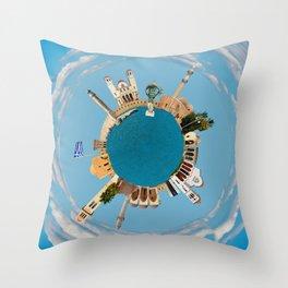 Rethymno little planet Throw Pillow