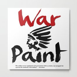 War Paint (V.1) Metal Print