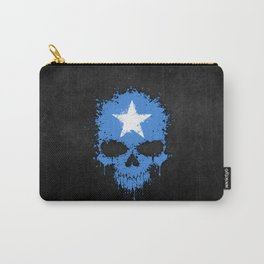 Flag of Somalia on a Chaotic Splatter Skull Carry-All Pouch