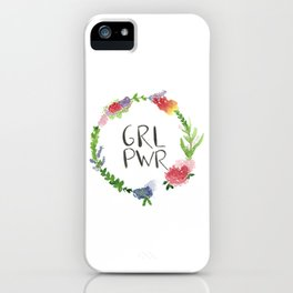 GRL PWR flowers iPhone Case