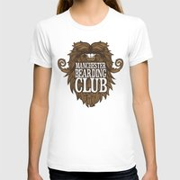 manchester T-shirts featuring Manchester Bearding Club Tshirt by Dastardly Dave