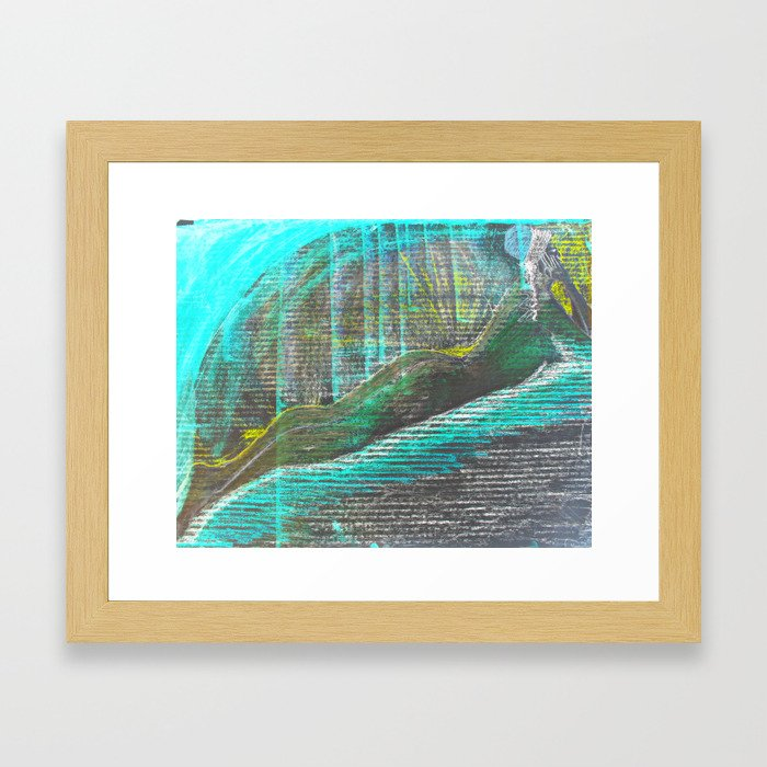 lost in thoughts inverted Framed Art Print