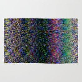 Broken pixels glitch. Television signal fail. Rug