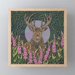 Celtic Stag Framed Mini Art Print