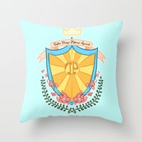 kendrawcandraw Throw Pillows featuring Tyler Posey Defense Squad by kendrawcandraw