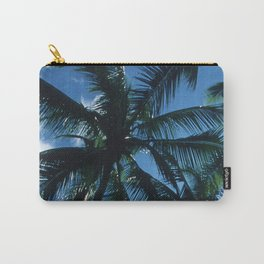 Palm Trees Upshot in Bright Blue Tropical Sky Carry-All Pouch