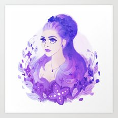 Lavender Princess Art Print