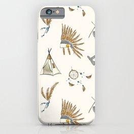 Native American tribal print iPhone Case