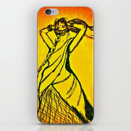 "Women with no faces--series ""Indian"" iPhone Skin"