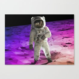 Astronaut Low Poly Canvas Print