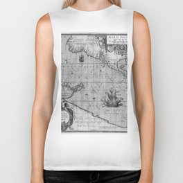 Old World Map print from 1589 Biker Tank