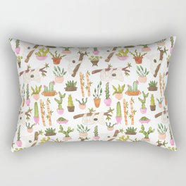 watercolor koala bears hanging out in their cactus succi garden Rectangular Pillow
