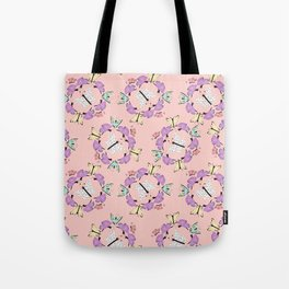 Butterfly Patterns in Pink and Blue and White. Tote Bag