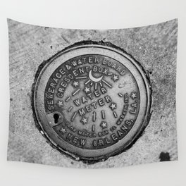 New Orleans Water Meter Wall Tapestry