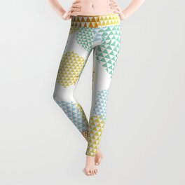 Retro Abstract Hexagon Pattern Leggings