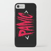 panic at the disco iPhone & iPod Cases featuring PANIC by Chris Piascik
