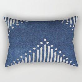 Indigo Deco Chev Rectangular Pillow