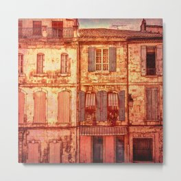 The Old Neighborhood, Rustic Buildings Metal Print