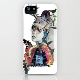 Magpie Moon Junkie Woman iPhone Case
