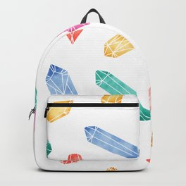 Crystals pattern - White2 Backpack
